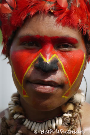 Woman at Mt. Hagen Sing Sing