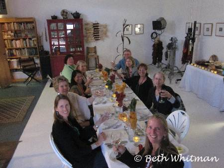 Group Dinner at Lois Ellen Frank\'s home