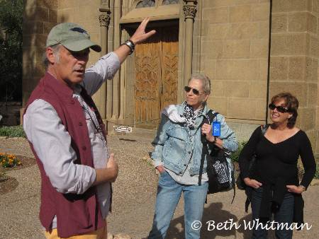 Group with Guideon walking tour