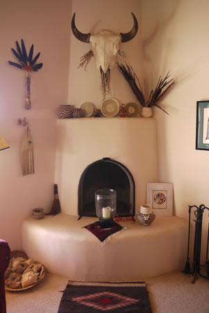 Lois Ellen Frank\'s fireplace