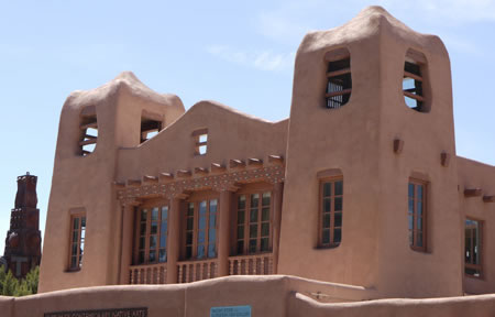 Santa Fe building on Plaza