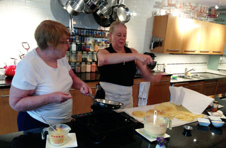 Cooking at Diane\'s Market Kitchen