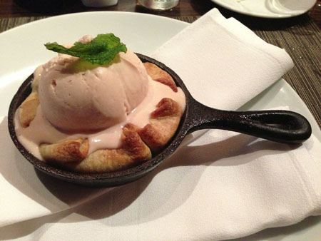 Individual serving of Rhubarb Pie at The Flying Fish