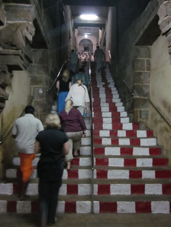 Stairs going up temple
