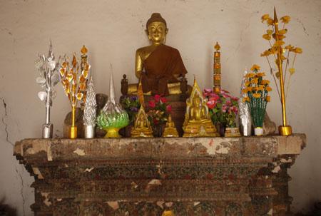 Altar in Luang Prabang, Laos