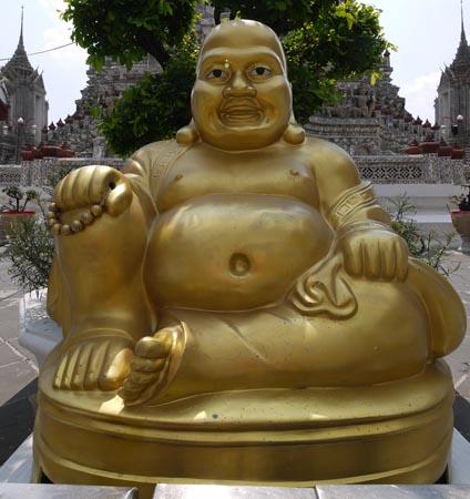 Buddha statue at Wat Arun in Bangkok