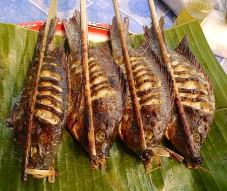 BBQ\'d fish in Thailand
