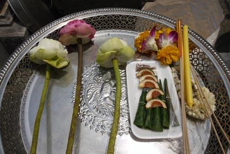 Offerings in Bangkok