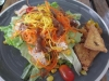Salad at restaurant in Chiang Mai