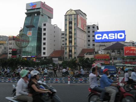 Saigon city at dusk