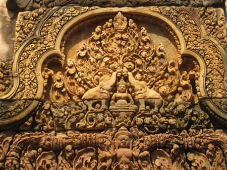 Temple detail near Siem Reap
