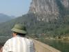 Man in boat near Mai Chau