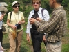 Guide with group in Mai Chau