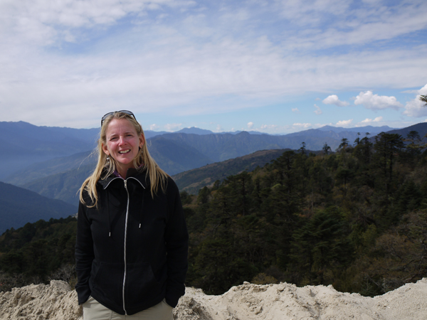 Beth Whitman in the Himalayas