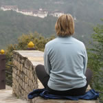 Meditating in Bhutan