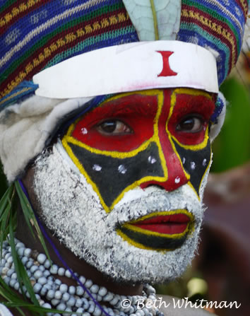 Papua New Guinea Mt. Hagen Singsing man