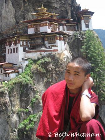 Bhutan Monk at Tigers Nest