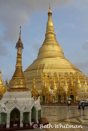 Shwedagon Pagoda in Rangon Burma Myanmar