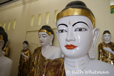 Shwedagon Pagoda Buddhas in Burma/Myanmar
