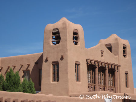 Adobe building in SantaFe