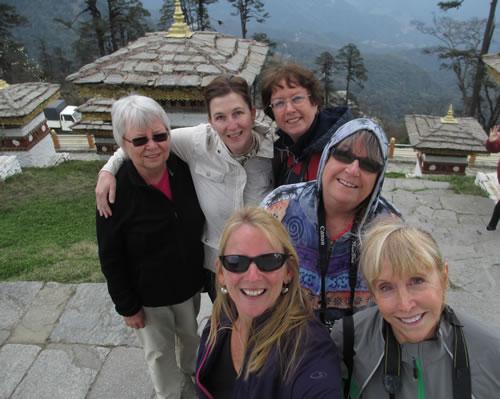 Group Dochu La Pass Bhutan