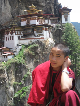 Buddhist Monk at Tiger's Nest