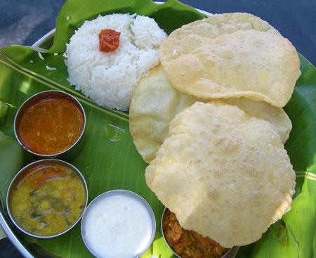 India Thali Plate