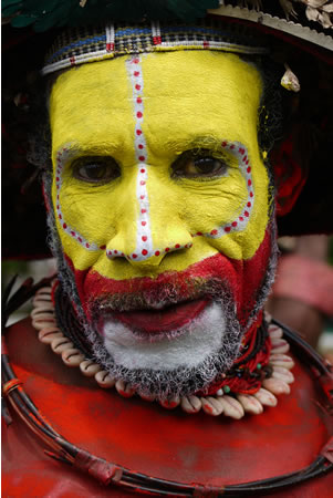 Tribesman Mt. Hagen Papua New Guinea