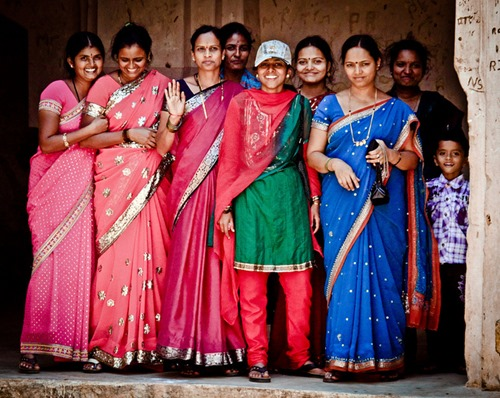 Women wearing saris