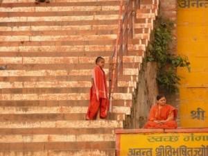 Varanasi ghats in India