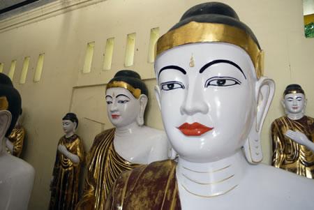 Schwedagon Buddhas in Myanmar/Burma