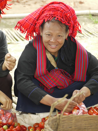 Shan Woman at Market at Inle Lake Burma/Myanmar
