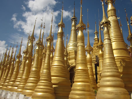 Gold Spires at Inle Lake