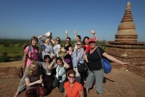 Tour group in Bagan Myanmar