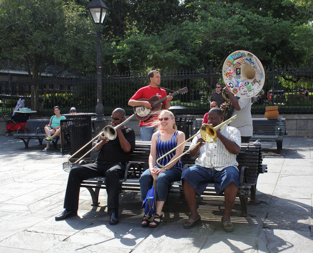 Jazz musicians in Jackson Square