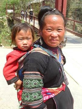 Sapa woman and child