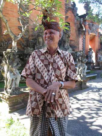 Indonesian royalty wearing a batik