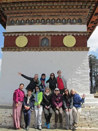 Group at DochuLa Chorten