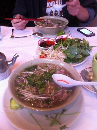 Eating Pho
