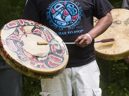 Salish drum