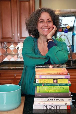 Susan with cookbooks