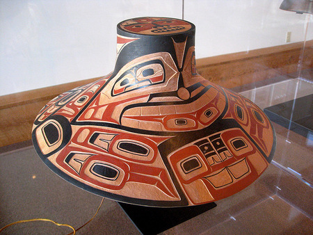 Traditional Salish hat
