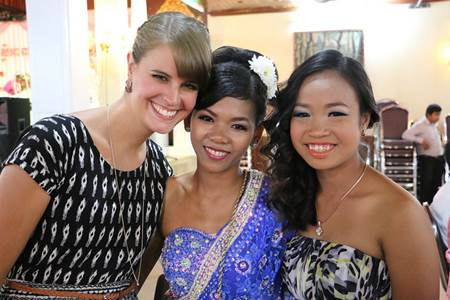 Foreigner with Khmer Girls