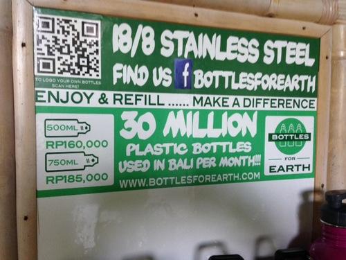 Water bottles Bali