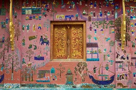 Wat Xieng Thong Wall