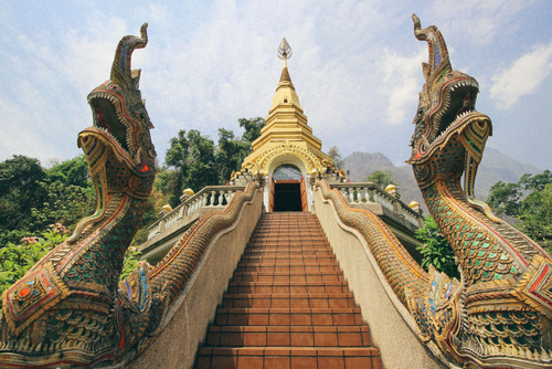 Chiang Mai temple steps