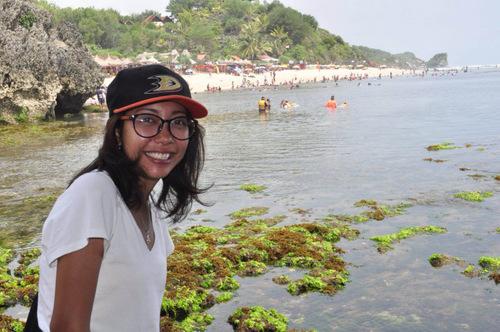 Atik at the beach