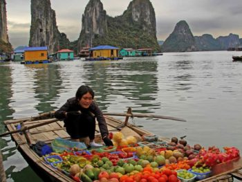 Halong Bay Fruit Vendor