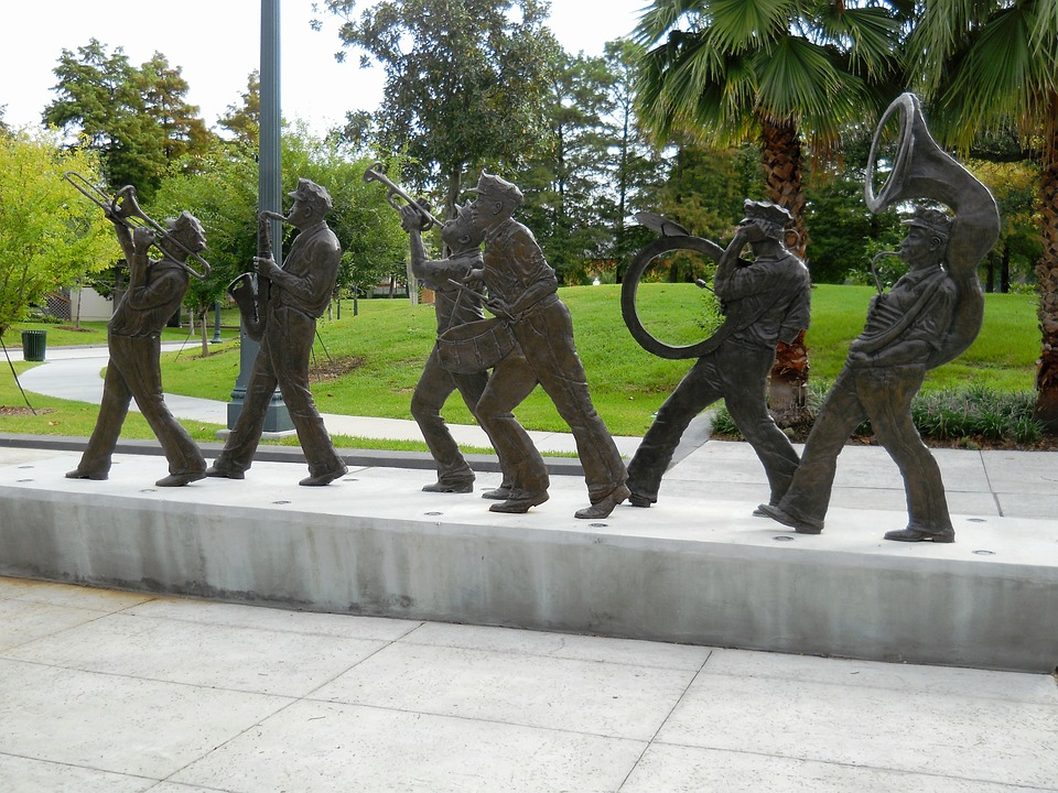 New Orleans music statues by N Bauer