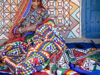 Woman Gujarat Textiles